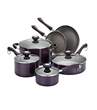 Paula Deen® Purple Traditional Porcelain 10-pc. Cookware Set