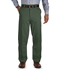 Harbor Bay® Men's Big & Tall Waist-Relaxer® Flat-Front Twill Pants