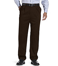 Oak Hill® Men's Big & Tall Dual-Action Premium Twill Pleated Pants