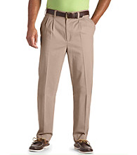 Harbor Bay® Men's Big & Tall Continuous Comfort™ Pleated Chinos