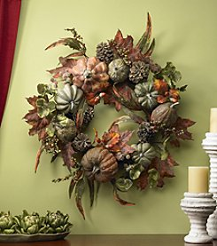Nearly Natural® Pumpkin & Gourd Wreath