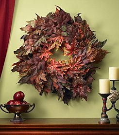 Nearly Natural® Maple Leaf Wreath