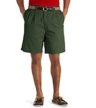 Harbor Bay® Men's Big & Tall Waist-Relaxer® Pleated Twill Short