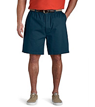 Harbor Bay® Men's Big & Tall Elastic-Waist Twill Shorts