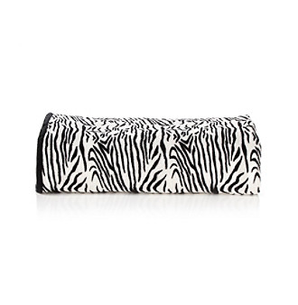 Elite Home Products Zebra-Print Plush Micro Fleece Blanket
