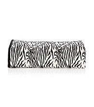 Elite Home Products Zebra-Print Plush Micro Fleece Blanket