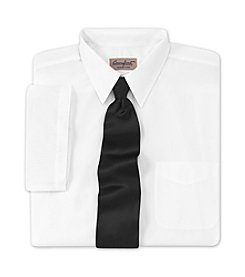 Comfort Zone® Men's Big & Tall Neck-Relaxer® Broadcloth Dress Shirt - White