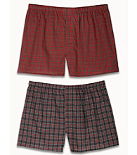 Harbor Bay® Men's Big & Tall 2-pk. Plaid Boxers