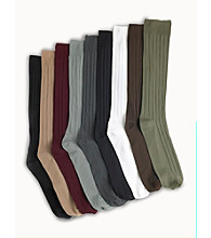 Wonder Width® Men's Big & Tall Non-binding Crew Socks