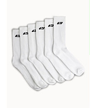 Reebok® Men's Big & Tall 6-pk. Athletic Performance Crew Socks - White