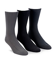 Calvin Klein Men's 3-Pack Microfiber Assorted Socks