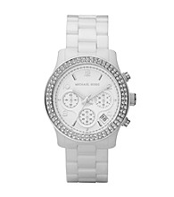 Michael Kors® Women's Glitzy White Ceramic Watch