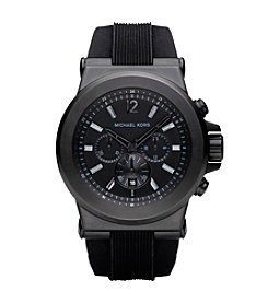 Michael Kors® Black Stainless Steel and Silicone Watch
