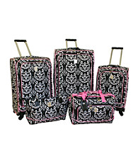Jenni Chan Quattro 360-degree Luggage Collection - Damask