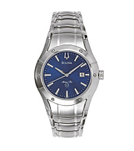 Bulova® Marine Star Stainless Steel with Blue Dial Watch