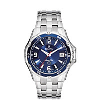 Bulova® Men's Marine Star Stainless Steel with Blue Dial Watch