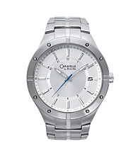 Caravelle® by Bulova Men's Stainless Steel with Silver Dial Watch