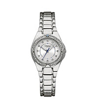 Caravelle® by Bulova Women's Stainless Steel with Crystal Accent Watch