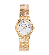 Caravelle® by Bulova Women's Goldtone with White Dial Watch