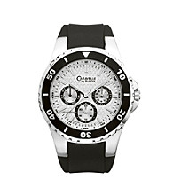 Caravelle® by Bulova Men's Black Rubber Strap Watch