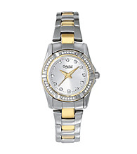 Caravelle® by Bulova Women's Crystal Two-Tone Watch
