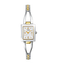 Caravelle® by Bulova Women's Two-Tone Silvertone and Goldtone Watch