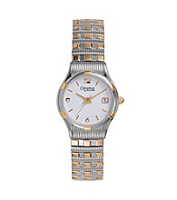 Caravelle® by Bulova Women's Two-Tone Bracelet with White Dial Watch