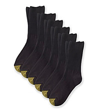 GOLD TOE® 6-pk. Turn Cuff Socks - Black