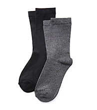 Relativity® 2-pk. Flat Knit Pillow Sole Socks