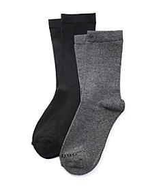 Relativity® 2-Pack Flat Knit Sole Socks