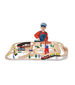 Melissa & Doug® Wooden Railway Set
