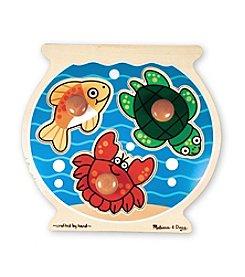 Melissa & Doug® Wooden Fish Bowl Jumbo Knob Puzzle