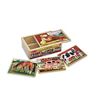 Melissa & Doug® Farm Animals Puzzles in a Box