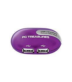 PC Treasures USB 2.0 4-Port Deluxe Mini Hub