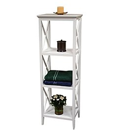 RiverRidge Home Products X-Frame Towel Tower - White