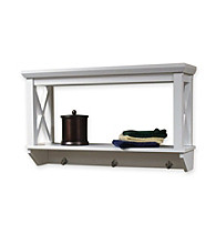 RiverRidge Home Products X-Frame Bathroom Wall Shelf - White