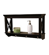 RiverRidge Home Products X-Frame Bathroom Wall Shelf - Espresso