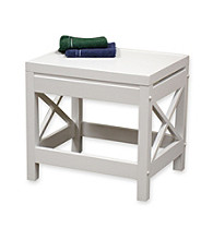 RiverRidge Home Products X-Frame Bathroom Stool - White