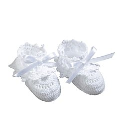Lillian Rose® Baby White Crocheted Booties