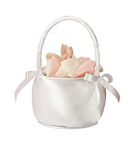 Lillian Rose® Off-white Satin Flower Basket