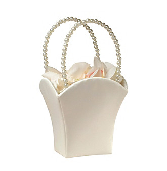 Lillian Rose® Ivory Satin Flower Basket