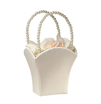 Lillian Rose® Ivory Satin Flower Basket