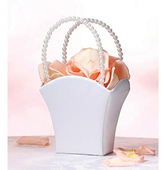 Lillian Rose® White Satin Flower Basket