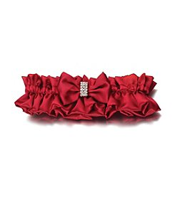 Lillian Rose® Red Rhinestone Satin Garter