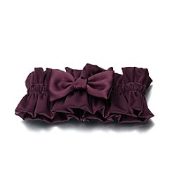 Lillian Rose® Plum Purple Satin Garter