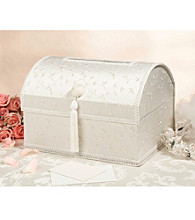 Lillian Rose® Elegant Ivory Embroidered Satin Card Box