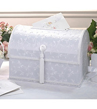 Lillian Rose® Elegant White Embroidered Satin Card Box