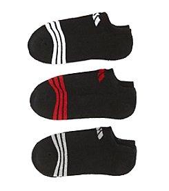 adidas® Boys' Assorted Black 3-pk. No-Show Socks