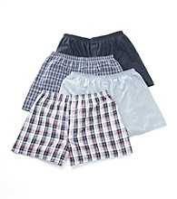 Jockey® Men's 4-pk. Full Cut Blended Boxers - Plaid/Solid Assorted