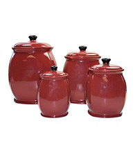 Corelle® Hearthstone Red Set of 4 Canisters
